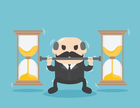 Business who is experiencing time problems. Illustration