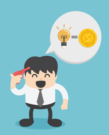 Idea can make lots of money. Stock illustration for poster Banque d'images - 111266602