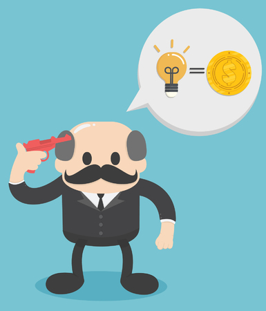 Ideas equals income. Concept business  vector illustration,