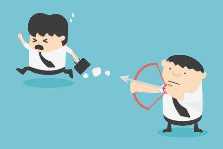 Concept cartoon risk business partner vector