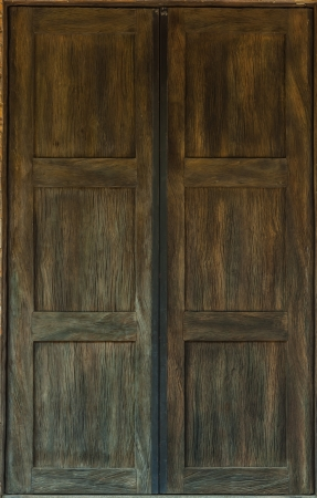 Old antique wooden door used for design background photo