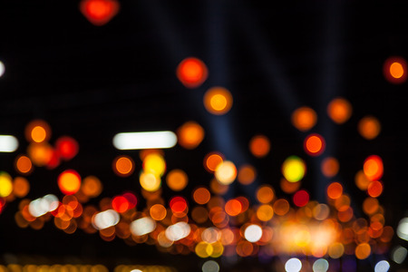 Beautiful bokeh light bulbs for background and design work photo