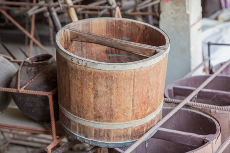 antiquity: Rice bucket for measurement of the Thailand antiquity