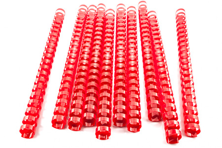 binding: red  binding springs on a white background