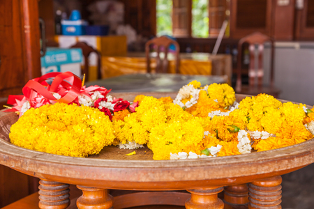 marigolds: Garlands of marigolds for religious ceremonies