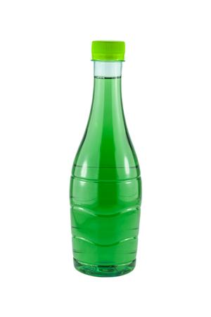 chlorophyll: water bottles chlorophyll isolated on white background