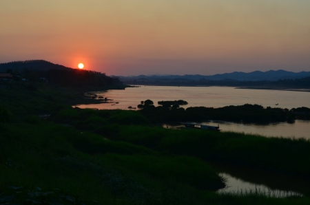 Sunsets  at Mekong River Changkan loei photo