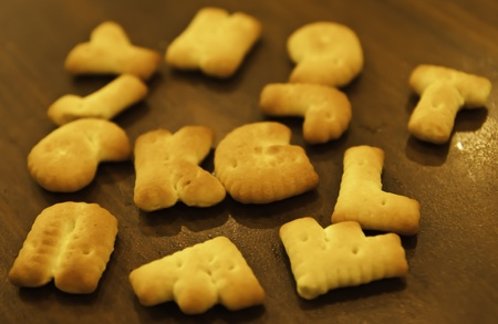 ABC crackers are one of the most favorite crackers in childhood. Also they are so yummy when accompanied with the hot coffee.. photo