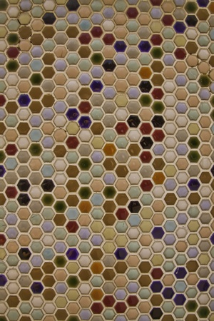 The mosaic tiles are the good texture for the background artwork, interior decoration and architectural design material. photo