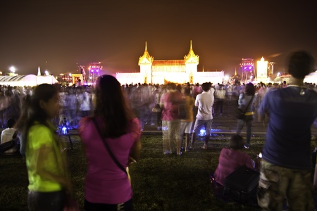 BANGKOK - 3 DECEMBER 2011: The national celebration event is held annually at Sanamluang park to celebrate the pride and patriotism of Thailand of His Majesty King Bhumibol Adulyadej - the king of king of Thailand. Stock Photo - 11481759