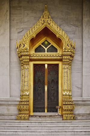 Wat Benchamabophit Dusitvanaram is a Buddhist temple (wat) in the Dusit district of Bangkok, Thailand. Also known as the marble temple, it is one of Bangkoks most beautiful temples and a major tourist attraction. It typies Bangkoks ornate style of high  photo