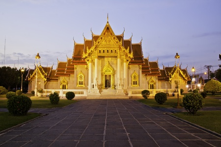 Wat Benchamabophit Dusitvanaram is a Buddhist temple (wat) in the Dusit district of Bangkok, Thailand. Also known as the marble temple, it is one of Bangkoks most beautiful temples and a major tourist attraction. It typies Bangkoks ornate style of high  Editorial