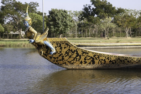 The beautiful Ancient City of Thailand. - The monsatery boat.