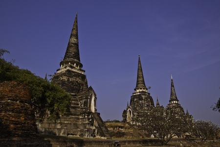 The ruin of holy traditional temple of Ayudhaya Thailand.