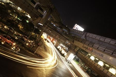technoligy: The cityscape of Bangkok - the capital of Thailand. Stock Photo