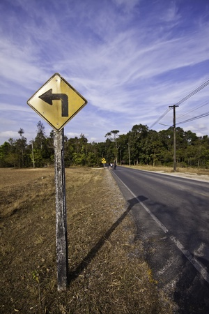 The country road in the landscape of fresh blue sky. Stock Photo - 11999693