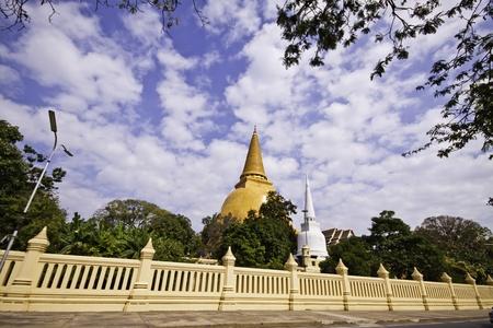 The exotic biddhism destination - Phra Pathom Chedi of Nakorn Pathom Thailand. photo