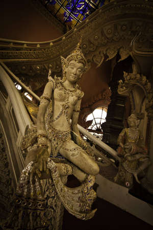 The exotic stairway at the Erawan Museum of Samutprakarn Thailand. photo