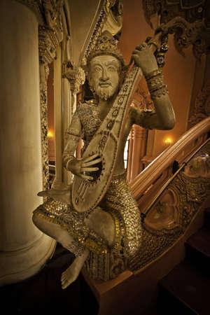 The exotic stairway at the Erawan Museum of Samutprakarn Thailand. photo