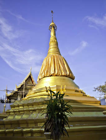 Beautiful traditional Thai temple architecturefor Lord holy Buddha photo