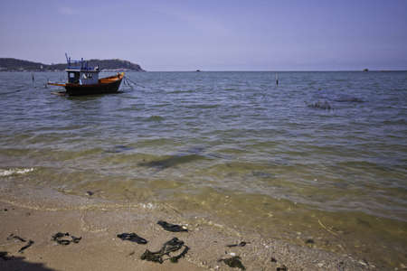 The fisherman's boat in the beautiful natural ocean landscape scenery Stock Photo - 12652852