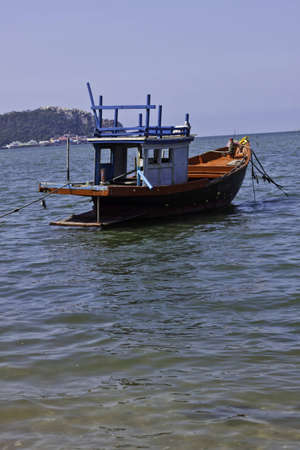 The fisherman's boat in the beautiful natural ocean landscape scenery Stock Photo - 12652849