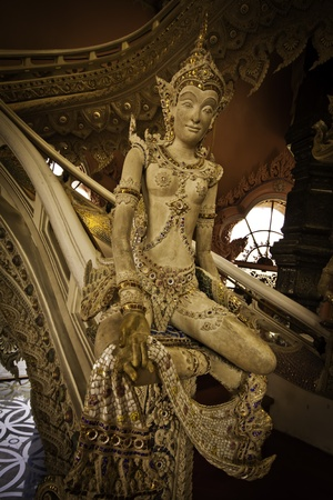 The exotic stairway at the Erawan Museum of Samutprakarn Thailand