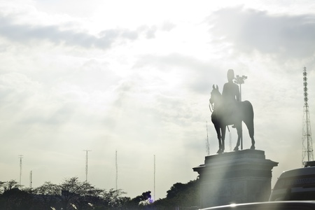 The beautiful scene of King Rama 5 and the paliament of Bangkok Thailand landscape  photo