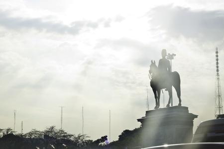 The beautiful scene of King Rama 5 and the paliament of Bangkok Thailand landscape  photo