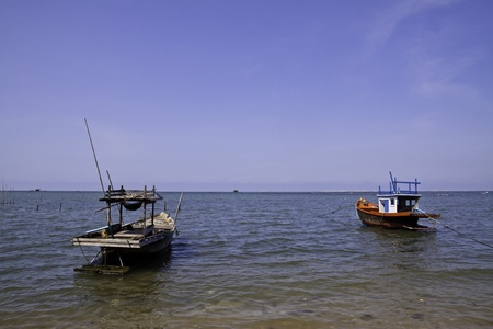 The fisherman's boat in the beautiful natural ocean landscape scenery Stock Photo - 13128038