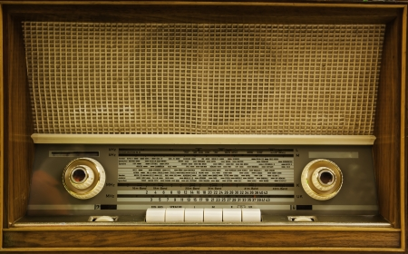 The retro style radios analog console. photo