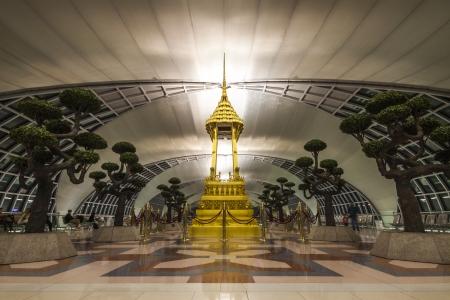 BANGKOK - OCTOBER 7 : The interior decoraton of Suvarnabhumi International Airport on October 7, 2012 in Bangkok Thailand. Suvarnabhumi International Airport is the national airport of Thailand located on the Bangkok the capital of Thailand. Stock Photo - 15855400