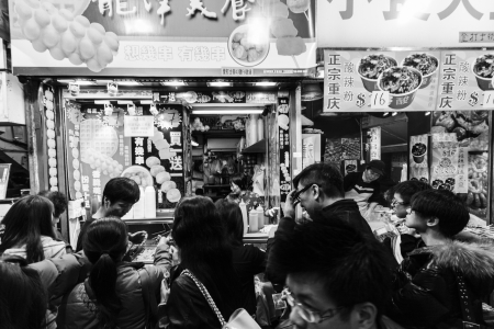 characterised: HONG KONG - JANUARY 5 : Mong Kok on January 5,2013, It is characterised by a mixture of old and new multi-story shops and restaurant buildings in the Yau Tsim Mong District on Kowloon Peninsula, Hong Kong
