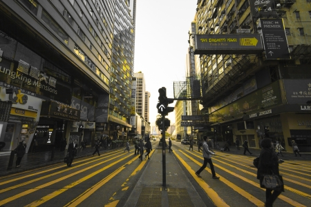 HONG KONG - JANUARY 7 : Nathan Road on January 7,2013. It is the main thoroughfare in Kowloon, Hong Kong