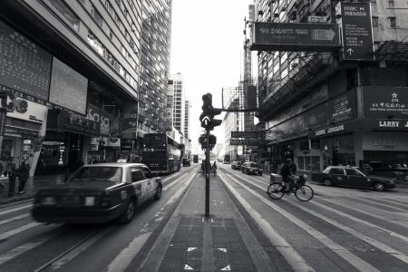 HONG KONG - JANUARY 7 : Nathan Road on January 7,2013. It is the main thoroughfare in Kowloon, Hong Kong