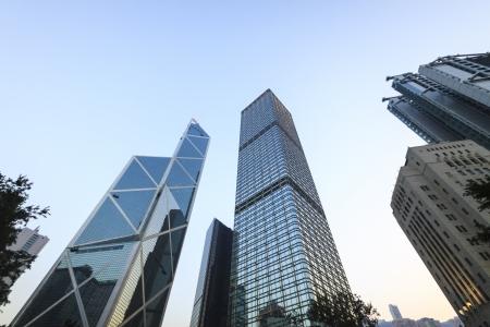 HONG KONG - JANUARY 6 : The scenery of The Bank of China Tower, Citibank Plaza, Cheung Kong Center on 6 January 2013.