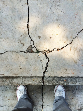 canvas: On the cracking ground.