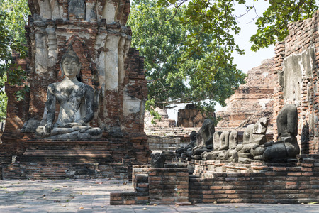 nirvana: Ruins of the ancient faith in Thailand Stock Photo