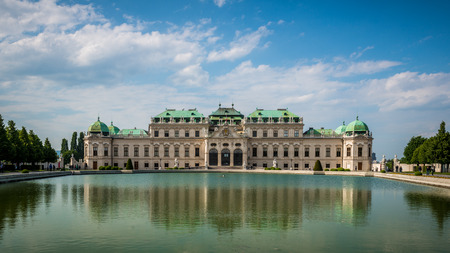 The Belvedere Palace of Vienna Austria.