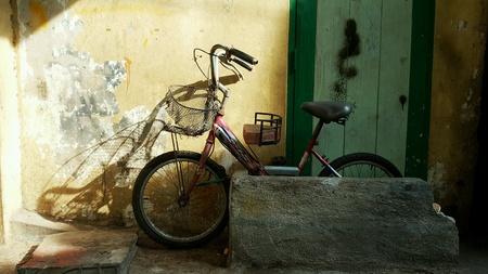 The old bike. Stock Photo