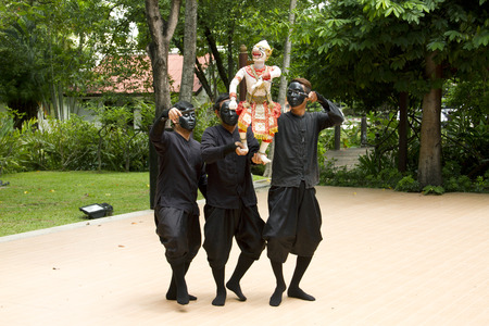 tradition: Thai Puppet Hanuman Captures Benchakaya.  Thai Puppetry has been a part of Thai culture and tradition for hundreds of years. Editorial