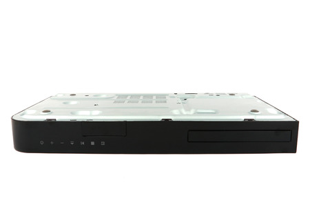 dvd player: CD, DVD player upside down with isolated on white background