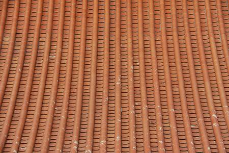 lengnoeiyi: Beautiful Roof Tiles pattern of Dragon Temple Kammalawat Wat Lengnoeiyi in Nonthaburi, Thailand Stock Photo