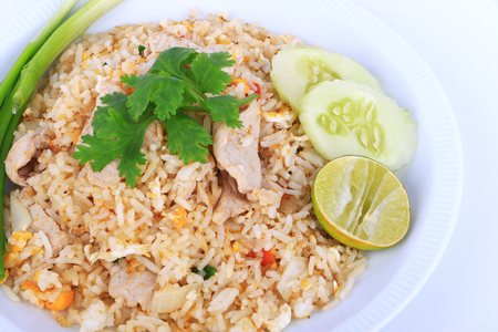 yang style: Thai Style Fried rice with pork in Bangkok, Thailand