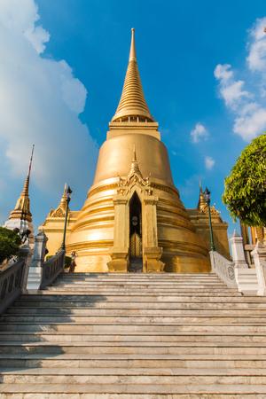 the emerald city: Temple of the Emerald Buddha; full official name Wat Phra Si Rattana Satsadaram in Bangkok, Thailand