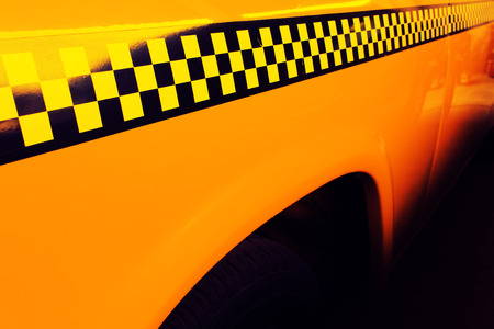 checker: Yellow Cab Taxi, Detail on the side of Taxi Checker