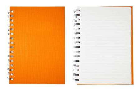 note book: Orange Book nota vuota Archivio Fotografico
