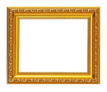 Gold frame on white background Stock Photo - 9401348