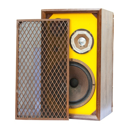 old speaker isolated photo