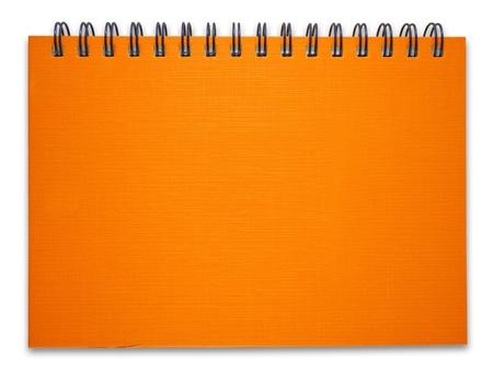 Orange notebook on the white background Stock Photo - 9424776